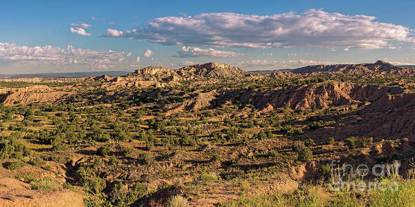 Photograph - Panorama Of Nambe Badlands On The High Road To Taos - Chimayo New Mexico Land Of Enchantment by Silvio Ligutti