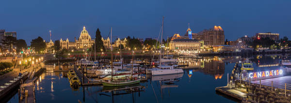 Wall Art - Photograph - Panoramic Of Inner Harbor In Victoria by Chuck Haney
