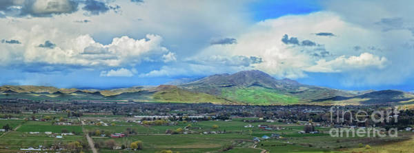 Wall Art - Photograph - Panoramic  View Of Emmett Valley by Robert Bales