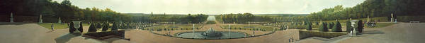 Wall Art - Painting - Panoramic View Of The Palace And Gardens Of Versailles  by MotionAge Designs