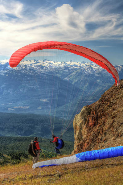 Wall Art - Photograph - Parasailing Atop In Early Fall, British by Stuart Westmorland