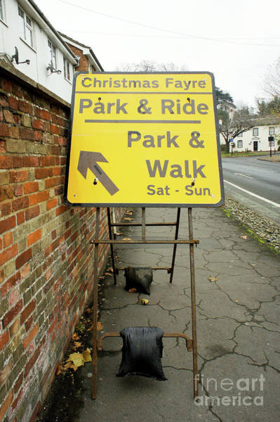 Wall Art - Photograph - Park And Ride Sign by Tom Gowanlock