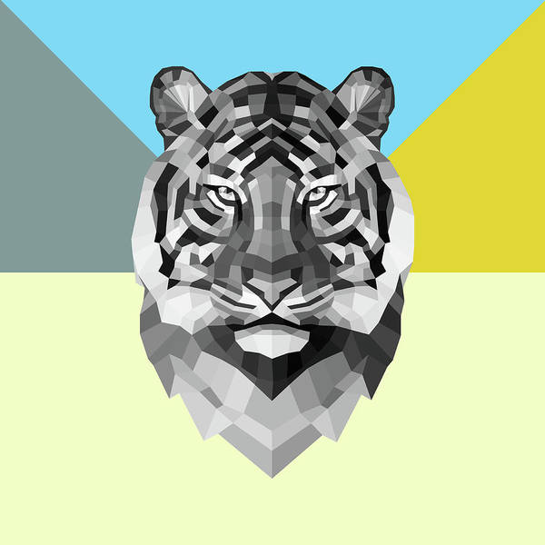 Wall Art - Digital Art - Party Tiger by Naxart Studio