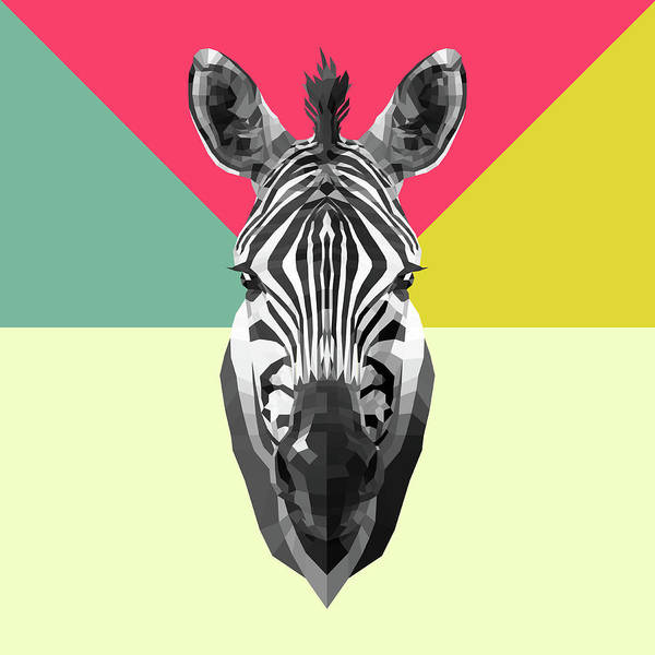 Wall Art - Digital Art - Party Zebra  by Naxart Studio