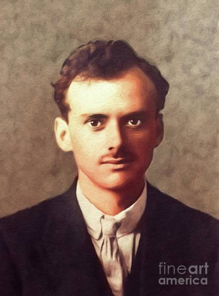 Physics Painting - Paul Dirac, Famous Scientist by John Springfield