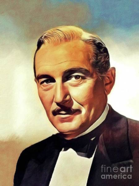 Wall Art - Painting - Paul Lukas, Vintage Actor by John Springfield