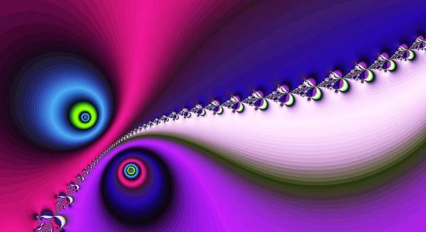 Digital Art - Peace And Love Purple by Don Northup