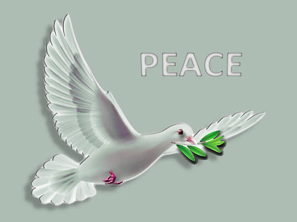 Olive Branch Digital Art - Peace by Cynthia Leaphart