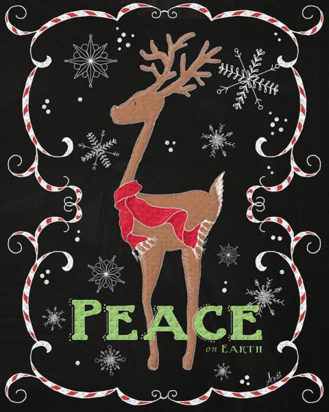 Wall Art - Painting - Peace On Earth Deer by Andi Metz