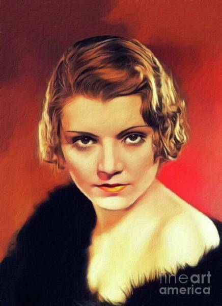 Wall Art - Painting - Peggy Shannon, Vintage Actress by John Springfield