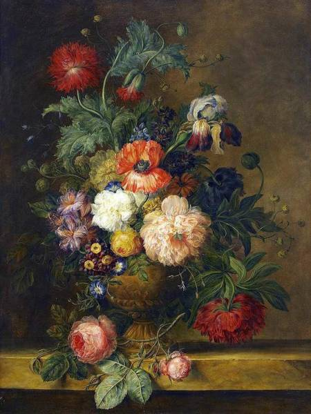 Wall Art - Painting - Pehr Hillestrom 1733-1816, Floral Still Life by Pehr Hillestrom
