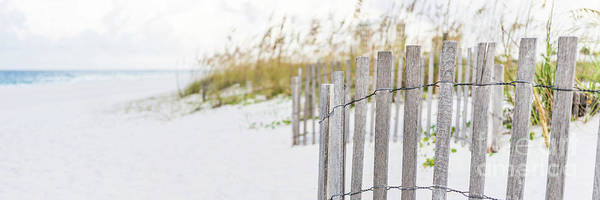 Wall Art - Photograph - Pensacola Florida Beach Fence Panorama Photo by Paul Velgos
