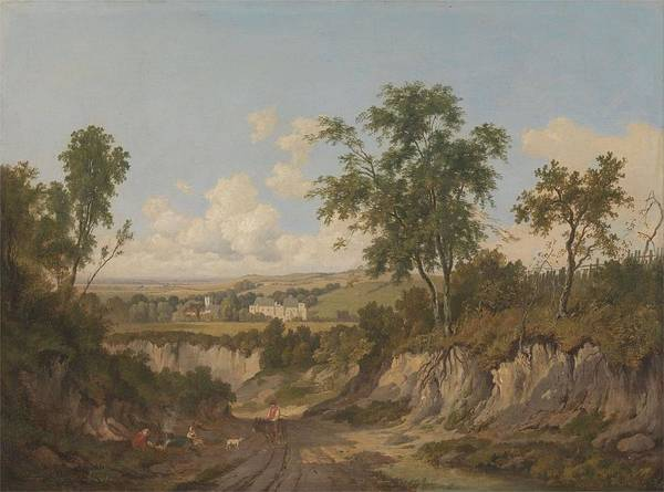 Wall Art - Painting - Penshurst Place  Kent  by Patrick Nasmyth