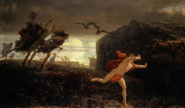 Wall Art - Painting - Pentheus Pursued By The Maenads, 1864 by Charles Gleyre