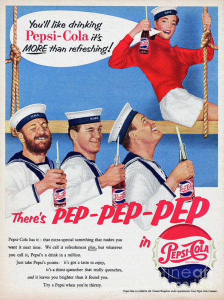 Bottle Cap Photograph - Pepsi-cola by Picture Post
