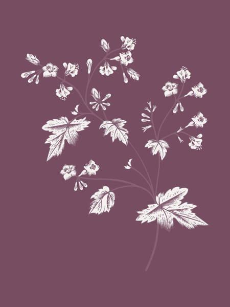 Love Mixed Media - Phacelia Purple Flower by Naxart Studio