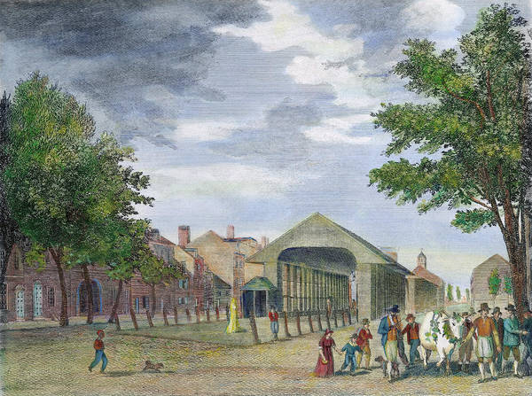 Wall Art - Painting - Philadelphia Market, 1799 by Granger
