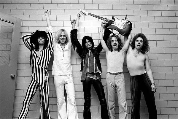 Wall Art - Photograph - Photo Of Aerosmith And Tom Hamilton And by Fin Costello