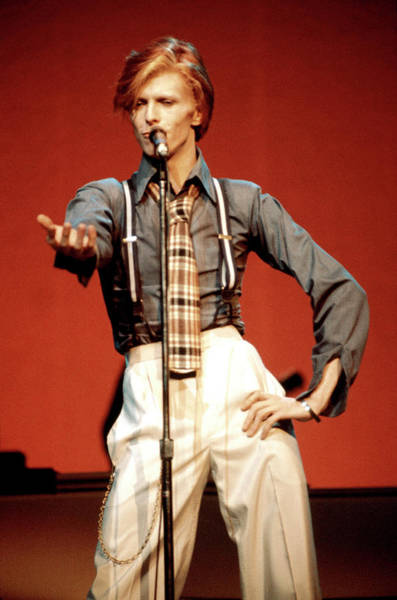Radio City Music Hall Photograph - Photo Of David Bowie by Steve Morley