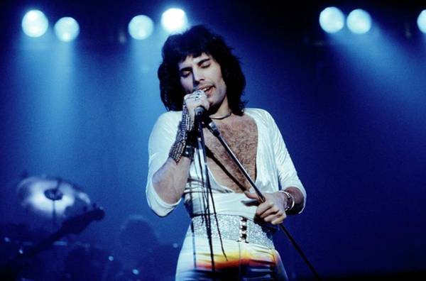 Queen Photograph - Photo Of Freddie Mercury And Queen by Fin Costello