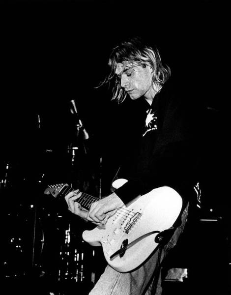 Stratocaster Photograph - Photo Of Kurt Cobain And Nirvana by Paul Bergen