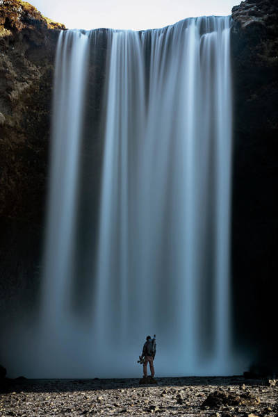Photograph - Amongst Giants Skogafoss Iceland by Nathan Bush