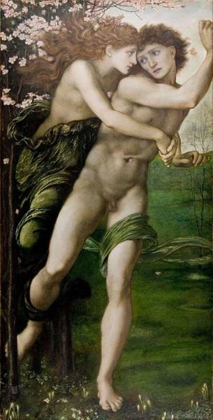 Almond Painting - Phyllis And Demophoon by Edward Burne-Jones