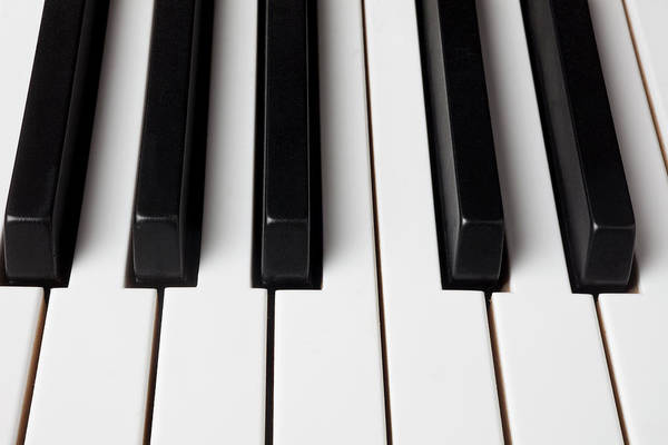 Piano Photograph - Piano Keys, Close-up by Garry Gay