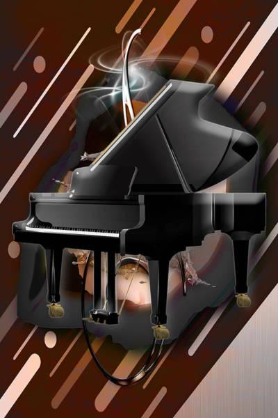 Mixed Media - Piano Man by Marvin Blaine