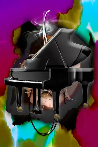 Mixed Media - Piano by Marvin Blaine