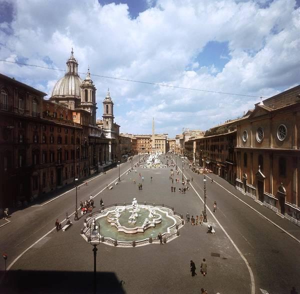 Street Photograph - Piazza Navona by Slim Aarons