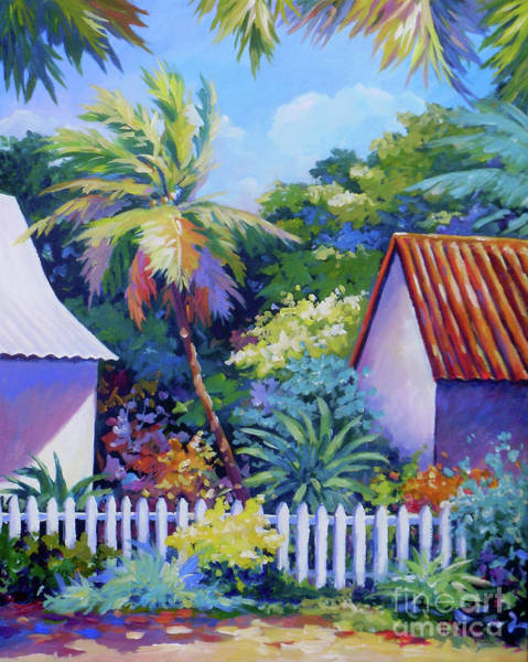 Wall Art - Painting - Picket Fence by John Clark
