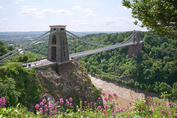 Somerset County Photograph - Picturesque City Of Bristol - Clifton Suspension Bridge by Seeables Visual Arts