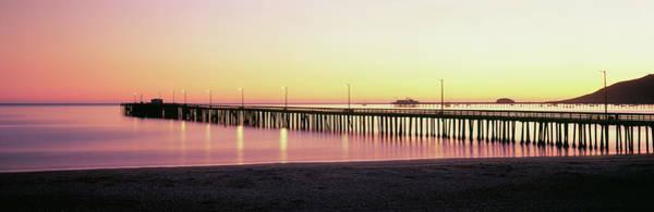 Wall Art - Photograph - Pier At Sunset, Avila Beach Pier, San by Panoramic Images