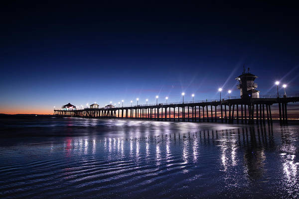 Wall Art - Photograph - Pier In The Pacific Ocean, Huntington by Panoramic Images