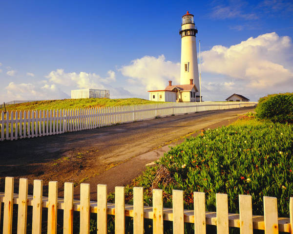 Half Moon Bay Photograph - Pigeon Point Lighthouse On California by Ron thomas