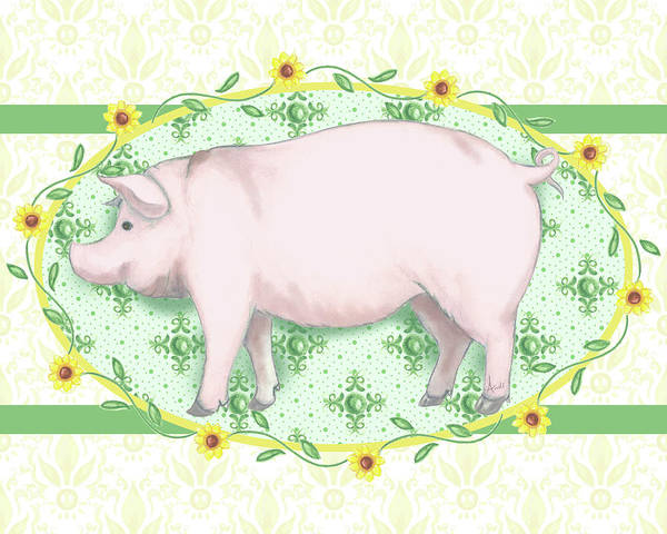 Wall Art - Painting - Piggy Wiggy I by Andi Metz