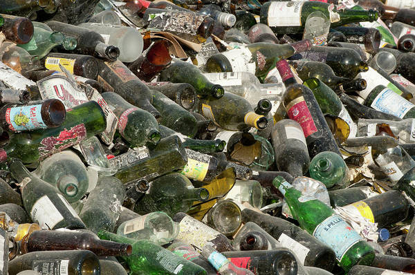 Wall Art - Photograph - Pile Of Glass Bottles by William Mullins