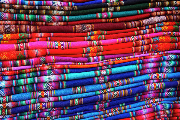 Wall Art - Photograph - Piles Of Colorful Cloth For Sale by David Wall