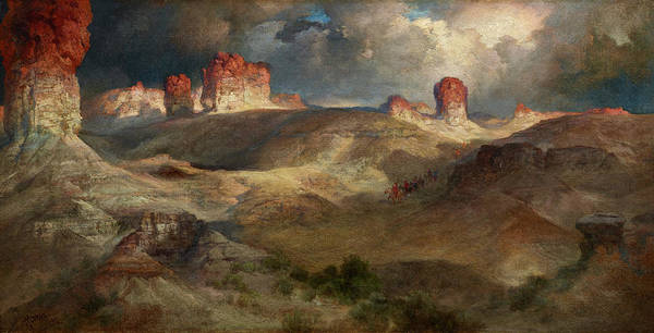 Wall Art - Painting - Pine Buttes, Wyoming by Thomas Moran