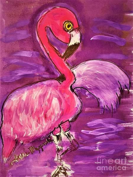 Wall Art - Mixed Media - Pink Flamingo by Geraldine Myszenski