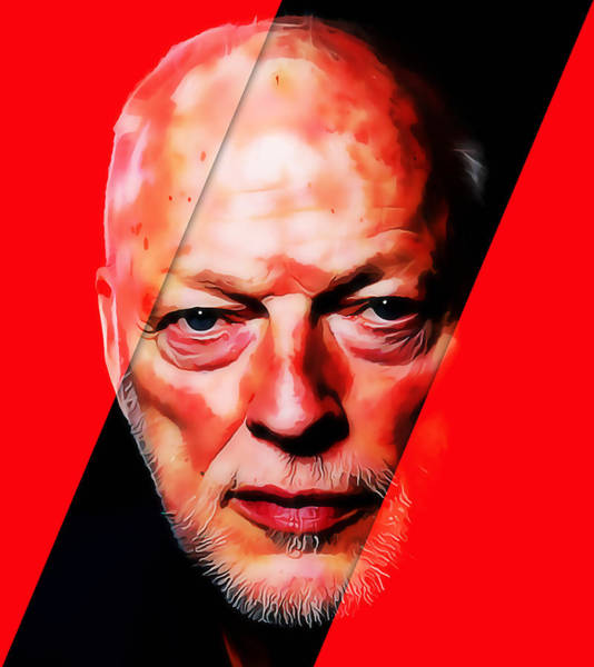 Mixed Media - Pink Floyd David Gilmour by Marvin Blaine