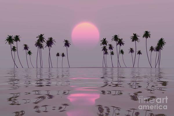 Wall Art - Photograph - Pink Sun Over Island by Aleksey Tugolukov