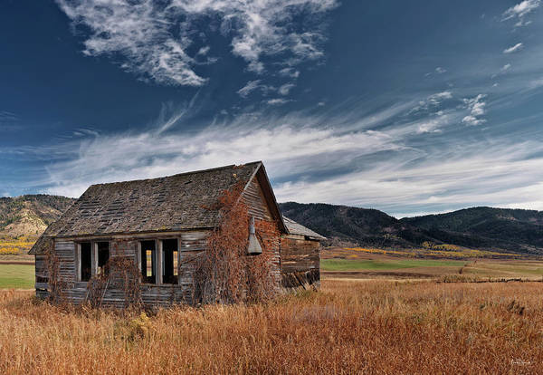 Swan Valley Photograph - Pioneer Cabin  by Leland D Howard