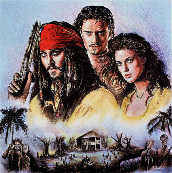 Wall Art - Drawing - Pirates by Andrew Read