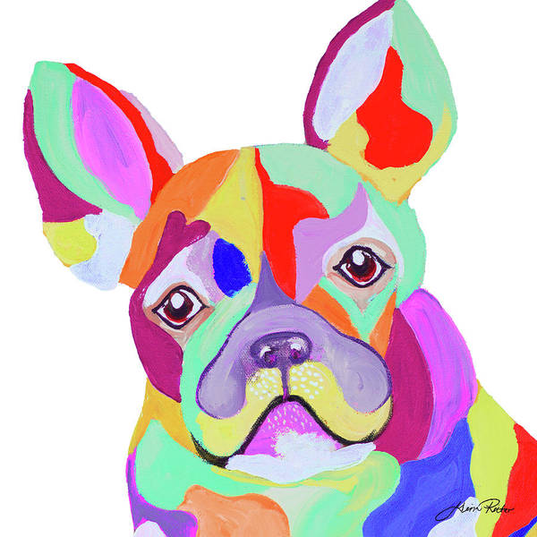 Playful Painting - Playful Pup by Gina Ritter