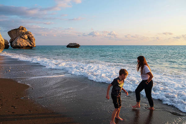 Wall Art - Photograph - Playing Barefooted At Aphrodite's Birthplace by Iordanis Pallikaras