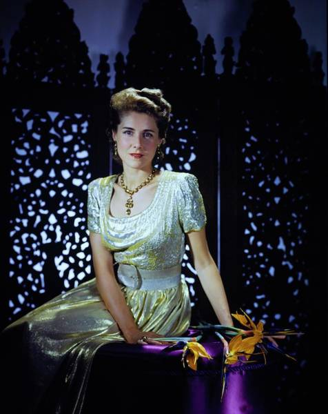 Screen Photograph - Playwright Clare Boothe Luce by Horst P. Horst