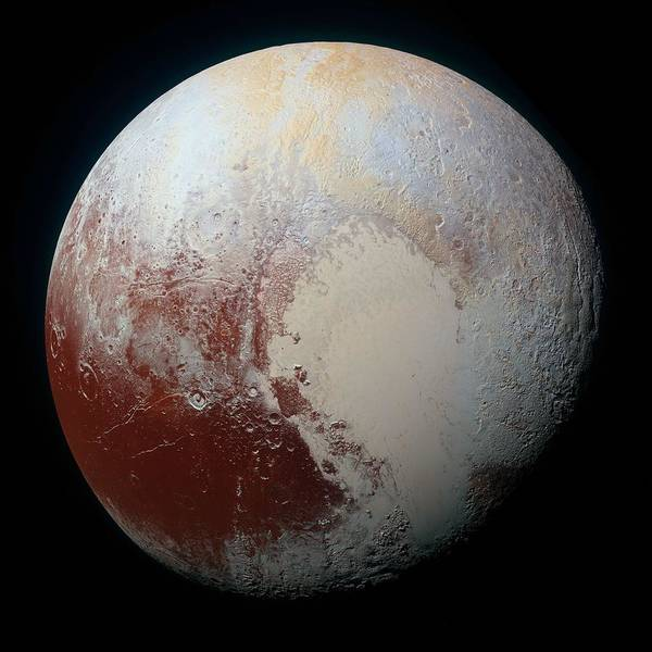 Wall Art - Painting - Pluto-01 Stern 03 Pluto by Celestial Images