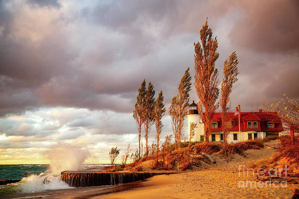 Wall Art - Photograph - Point Betsie Lighthouse by Todd Bielby